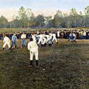 College Footbal Game, 1889 Art Print