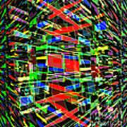 Colliding Dimensions Art Print