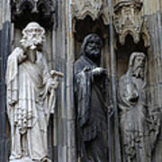 Cologne Cathedral Statues Art Print