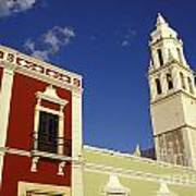 Colonial Colors Campeche Mexico Art Print