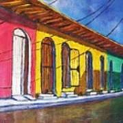 Colonial Homes Granada Nicaragua Art Print