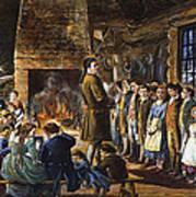 Colonial Schoolhouse Art Print