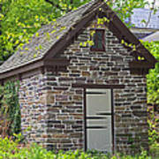 Colonial Stone Ice House Art Print