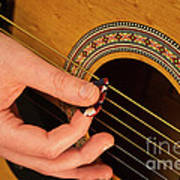 Color Guitar Picking Art Print by Michael Waters