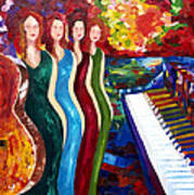 Color Of Music Art Print by Yelena Rubin