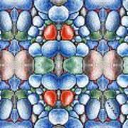 Colored Rocks Design Art Print