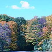 Colored Trees Art Print