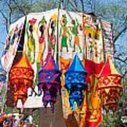 Colorful Banners At Surajkund Mela Art Print
