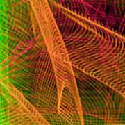 Colorful Beams 1 Art Print
