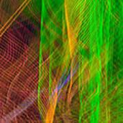 Colorful Beams 2 Art Print