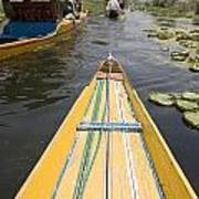 Colorful Boats On Dal Lake Dal Lake Art Print