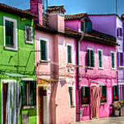 Colorful Burano Italy Art Print