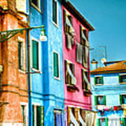 Colorful Burano Art Print