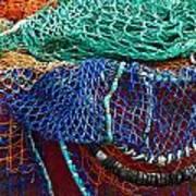 Colorful Fishing Nets 2 Art Print