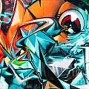 Colorful Graffiti Fragment Art Print