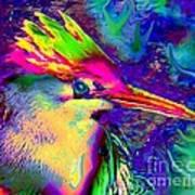 Colorful Heron Art Print by Doris Wood