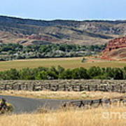 Colorful Hills Of Wyoming Art Print