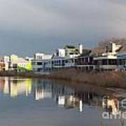 Colorful Homes On The Water Art Print