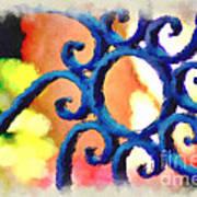 Colorful Ironwork Art Print