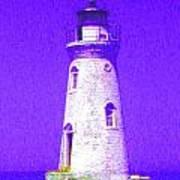 Colorful Lighthouse Art Print by Juliana  Blessington