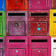 Colorful Mailboxes Art Print