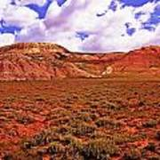 Colorful Mesas At Fossil Butte Nm Butte Art Print