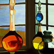 Colorful Old Bottles Art Print by Suni Roveto
