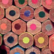 Colorful Painting Pencils Art Print
