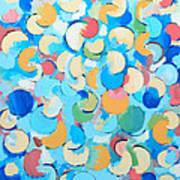 Colorful Partial Eclipses Art Print