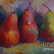 Colorful Pears Art Print