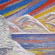 Colorful Snow Art Print