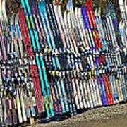 Colorful Snow Skis Art Print