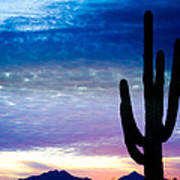 Colorful Southwest Desert Sunrise Art Print