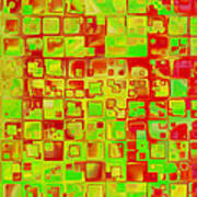 Colorful Squares II Art Print