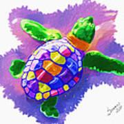 Colorful Turtle Art Print