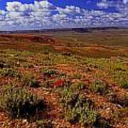 Colorful Valley From Fossil Lake Trailsil Bu Art Print