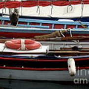 Colorful Wooden Boats Art Print