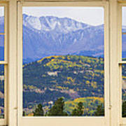 Colorful Rocky Mountain Autumn Picture Window View Art Print