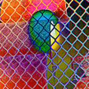 Colors Hiding Behind Fence Art Print