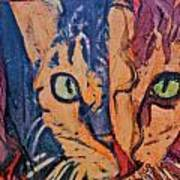 Colors Of A Cat Print by Ruth Edward Anderson