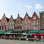 Colors Of Brugge Art Print