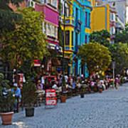Colors Of Istanbul Street Life Art Print