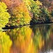 Colorwash On The Pond Art Print