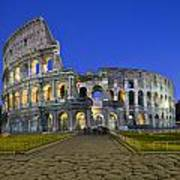 Colosseum At Blue Hour Art Print