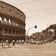 Colosseum In Sepia Art Print
