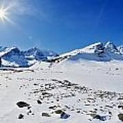 Columbia Icefield In Winter, Jasper Art Print