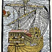 Columbus's Ship The Santa Maria Art Print