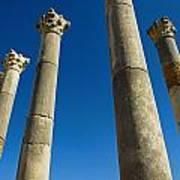 Column In Capitol In Ancient Roman City Art Print