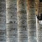 Columns And Hanging Lamp Art Print