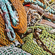 Commercial Fishing Nets And Rope Art Print